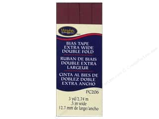 Wrights Extra Wide Double Fold Bias Tape 3 yd. Berry