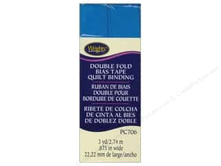 quilting Tape: Wrights Double Fold Quilt Binding 3 yd. Turquoise