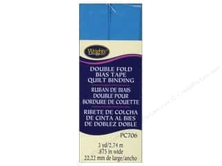 Wrights Quilting: Wrights Double Fold Quilt Binding 3 yd. Porcelain Blue