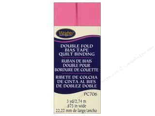 quick bias: Wrights Double Fold Quilt Binding 3 yd. Candy Pink