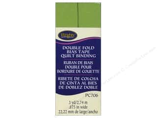 Tapes Wrights Double Fold Quilt Binding: Wrights Double Fold Quilt Binding 3 yd. Leaf Green