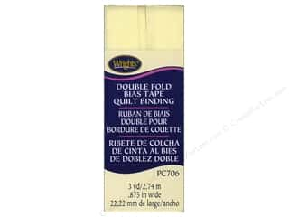 Wrights Quilt Binding Double Fold 3yd Baby Maize