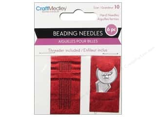 Pine Needles Beading & Beadwork: Multicraft Tools Beading Needles With Threader #10