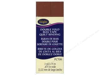 Tapes Wrights Double Fold Quilt Binding: Wrights Double Fold Quilt Binding 3 yd. Bark