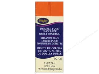quilting Tape: Wrights Double Fold Quilt Binding 3 yd. Orange Peel