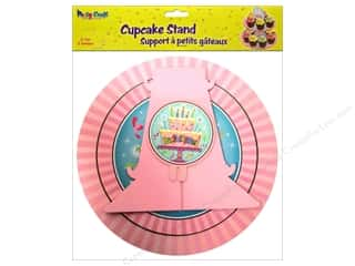 Party Supplies Orange: Multicraft Party Cupcake Stand 2 Tier Birthday Girl