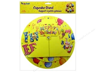 Party Supplies Orange: Multicraft Party Cupcake Stand 2 Tier Balloon Blast