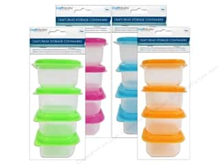"Boxes and Organizers Blue: Multicraft Organizer Storage Box With Lid 2.5""x 1.5""x 2.5"" Assorted Colors 4pc (24 pieces)"