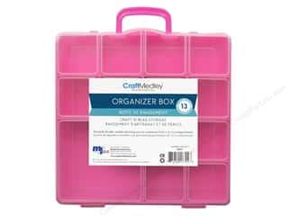 "Transportation Basic Components: Multicraft Organizer Box 13 Compartment With Lid 8""x 8.5""x 2"""