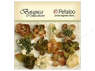 Flowers / Blossoms Brown: Petaloo Botanica Collection Blooms Ivory/Green/Brown