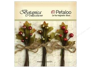 Petaloo Botanica Berry Cluster Red/Green/Burgundy