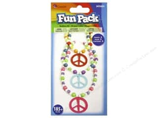 Children Crafting Kits: Cousin Fun Pack Kit Bead Necklace Peace Multi