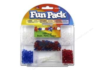 Stars Beading & Jewelry Making Supplies: Cousin Fun Pack Kit Bead Star Red/Blue
