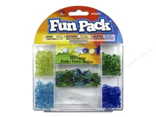 Party Supplies Green: Cousin Fun Pack Kit Bead Star Blue/Green