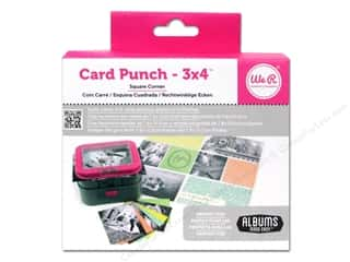 photo corner paper punch: We R Memory Punch 3x4 Card Square Corner