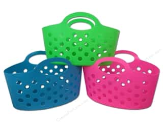 "Organizers Basic Components: Multicraft Organizer Basket Travel 12""x 7.5""x 8"" Assorted 3 Color (36 pieces)"