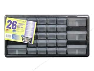 hot: Craft Design Craft Center Organizer 26 Drawer Black