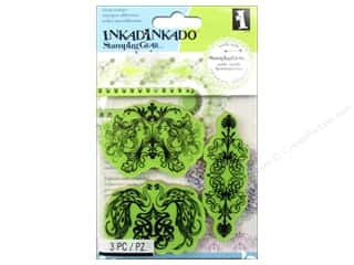 Outdoors Stamps: Inkadinkado Cling Stamp Stamping Gear Elegant Nouveau