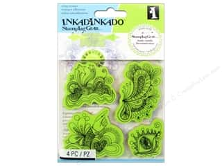 Inkadinkado inches: Inkadinkado InkadinkaClings Rubber Stamp Gear Doodle Fun