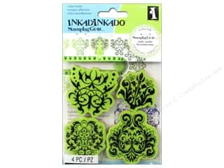 Stamps Stamp Sets: Inkadinkado Cling Stamp Stamping Gear Damask