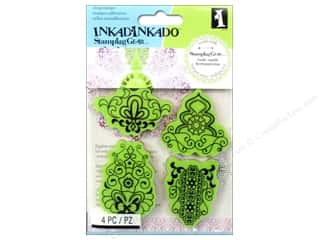 Stamps Stamp Sets: Inkadinkado Cling Stamp Stamping Gear Mehndi