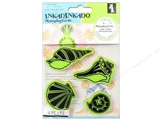 Weekly Specials Little Lizard King: Inkadinkado Cling Stamp Stamping Gear Shells