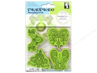 Weekly Specials Paper Accents: Inkadinkado Cling Stamp Stamping Gear Doodle Border