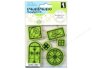 Religious Subjects Crafting Kits: Inkadinkado Cling Stamp Stamping Gear Religious Icons