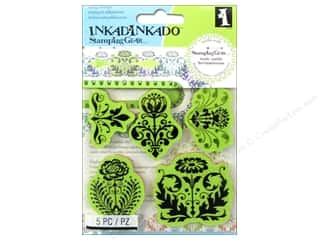 Stamps Stamp Sets: Inkadinkado Cling Stamp Stamping Gear Floral Damask
