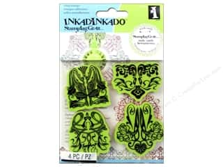 Clearance Art Impressions Rubber Stamp: Inkadinkado Cling Stamp Stamping Gear Art Nouveau