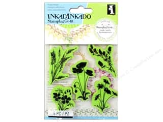 Weekly Specials Paper Accents: Inkadinkado Cling Stamp Stamping Gear Meadow Flowers