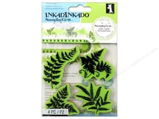 Inkadinkado Cling Stamp Stamping Gear Ferns