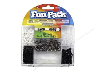 Beads Black: Cousin Fun Pack Kit Bead Black/Silver Mix