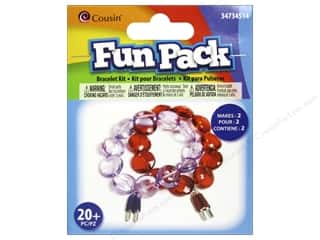 School Cousin Fun Pack: Cousin Fun Pack Kit Bead Bracelet Popsicle
