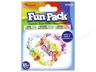 School Cousin Fun Pack: Cousin Fun Pack Kit Bead Bracelet Butterfly