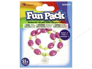 School Cousin Fun Pack: Cousin Fun Pack Kit Bead Necklace Flower
