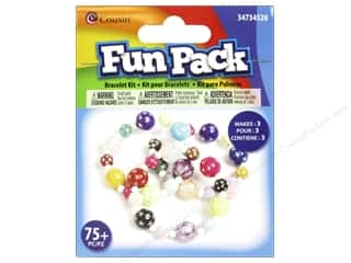 Weekly Specials Aunt Lydias Bamboo Crochet Thread Size 10: Cousin Fun Pack Kit Bead Bracelet Round/Star