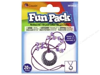 Cousin Fun Pack Kit Bead Necklace Leopard Purple