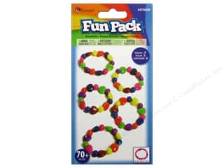 Cousin Fun Pack Kit Bead Bracelet Heart Neon