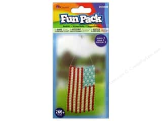 Kids Crafts Americana: Cousin Fun Pack Kit Bead Suncatcher Flag