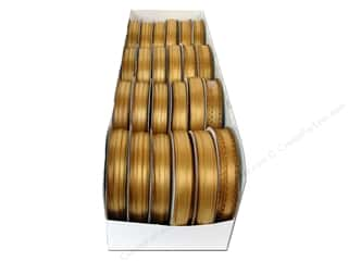 Ribbon Work Size Metric: Offray Spool-O-Ribbon Double Face Satin Assortment Old Gold (24 spools)