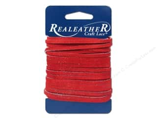 Leather Supplies: Silver Creek Suede Lace 1/8 in. x 8 yd. Red