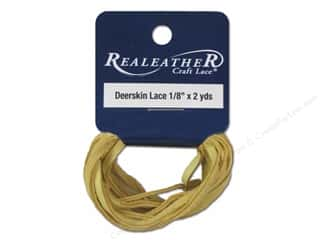 Leather Supplies inches: Silver Creek Deerskin Lace 1/8 in. x 2 yd. Buckskin