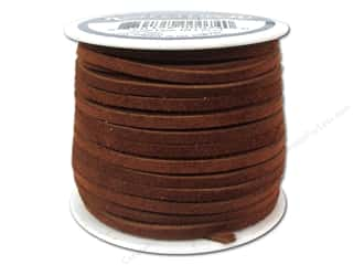 Leatherwork Brown: Silver Creek Suede Lace 1/8 in. x 25 yd. Medium Brown