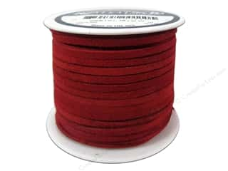Leather Supplies 1 Yard: Silver Creek Suede Lace 1/8 in. x 25 yd. Red