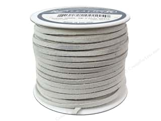Silver Creek Suede Lace 1/8 in. x 25 yd. White
