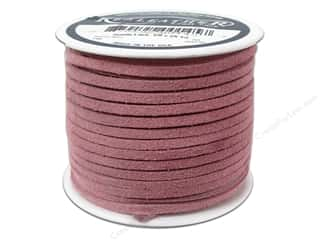 Leather Supplies: Silver Creek Suede Lace 1/8 in. x 25 yd. Pink