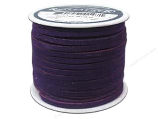 Leather Supplies 1 Yard: Silver Creek Suede Lace 1/8 in. x 25 yd. Purple