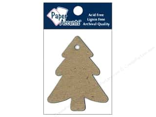 Paper Accents Chipboard Shape Tree Tag 8 pc. Kraft