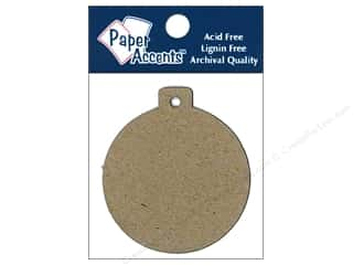 Paper Accents Chipboard Shape Ornament Tag #12 pc. Kraft
